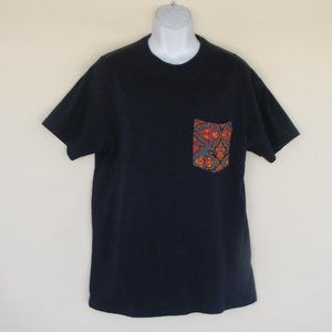 10.DEEP Tshirt, L, Navy Blue, Contrast pocket, SS